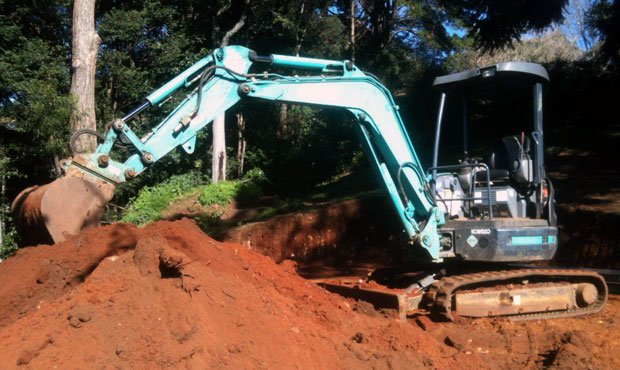 Excavator on a hire job