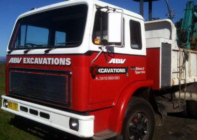 ABV Excavator hire tipper truck